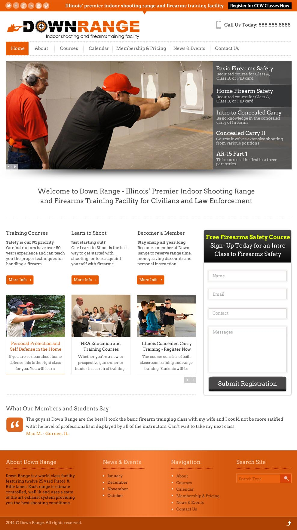 Website Design For Firearms Business